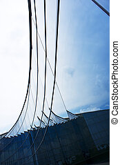 Curve arc glass wall