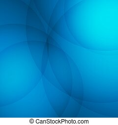 Curve element with blue background