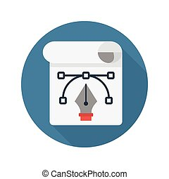 curve flat icon