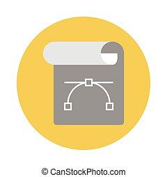 curve flat icon