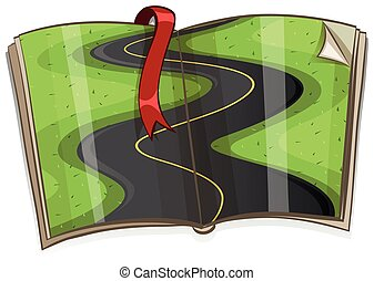 Curve road on the book