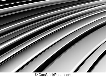Curve shape silver aluminium stripe background 3d...
