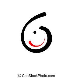 Curve Smile vector sign - Branding identity corporate logo...