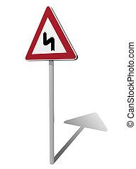 curve traffic sign