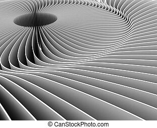 curved abstract background 3d . 3d rendered illustration
