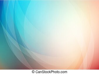 Curved abstract colors background. Vector Eps10