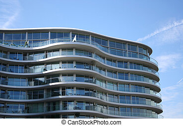 Curved apartment building