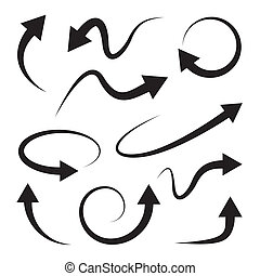 Curved arrows set. Full rotation. Refresh. - Curved arrows...