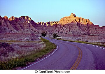 Curved Badlands Road