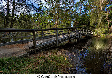 Curved bridge in South Durras