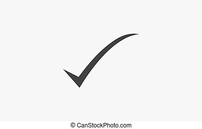 curved checkmark icon. isolated on white background.