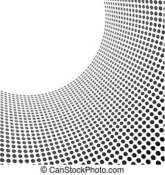 Curved circles pattern template with copy space.