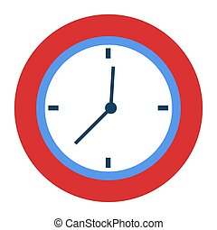 Curved Clock with Hands Pointers Time Management