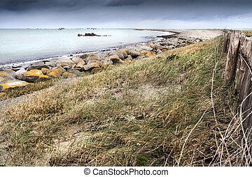 Curved coastline