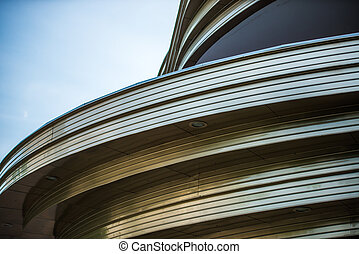 curved detail of a building in Berlin