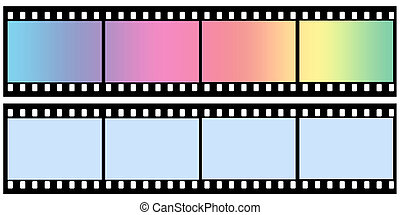 Curved film color sheet on background gray