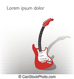 Curved guitar creative background