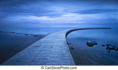 Curved Jetty - Long Exposure