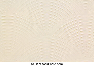 Curved lines on the white walls.