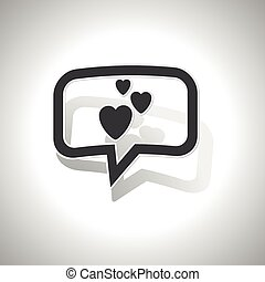Curved love message icon