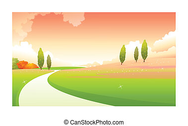 Curved path - This illustration is a common natural...