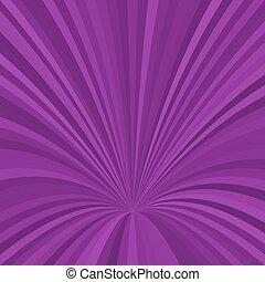 Curved ray background - vector graphic from striped rays in purple tones