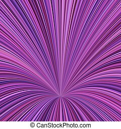 Curved ray burst background - vector graphic design from curved stripes in purple tones