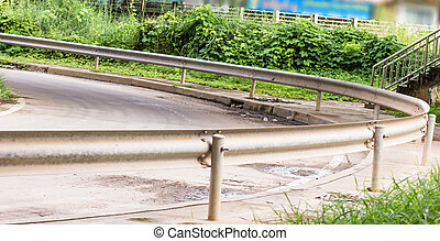 Curved road barrier ,Curved road safety, Barrier systems