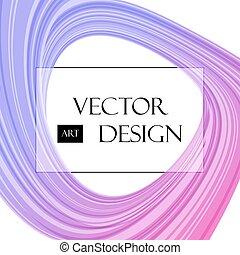 Curved round background - Round background, purple curved...