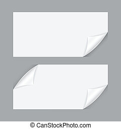 curved sheet of paper