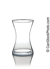 curved vase on a white background