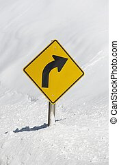 Curved Winter Road