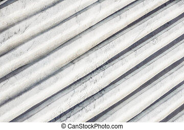 Curvilinear marble detail . Top view of modern architecture ...