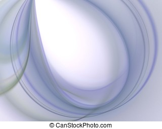 Curving Blues Abstract - Curving design, soft wispy blues -...