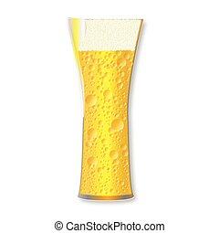 curvo, cerveza, vidrio