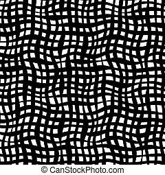 curvo, rete, semplicemente, seamless, monocromatico, modello, per, fondale, tessile, carta involucro, e, altro.