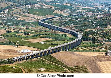 curvo, siciliano, carretera
