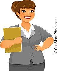 curvy business woman