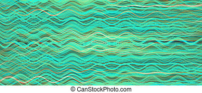 curvy, verde, líneas, patrón