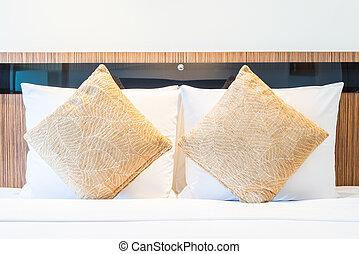 cuscino, stanza hotel, letto, lusso
