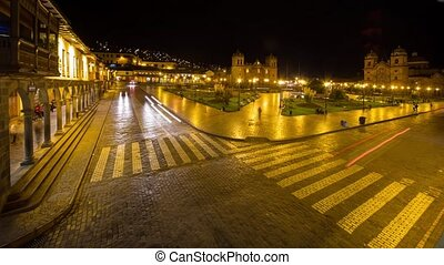 Cusco, Peru (Time lapse) - Timelapse video footage of the...