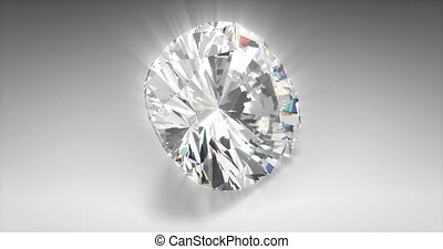 Cushion Cut Diamond - Cushion cut diamond on gray background...