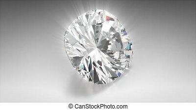 Cushion Cut Diamond - Cushion cut diamond on gray background...