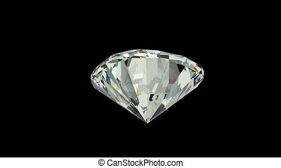Cushion cut diamond with alpha channel (seamless)