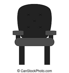 cushioned armchair , vector illustration