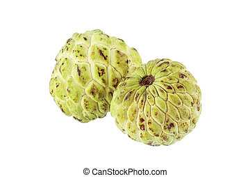 Custard apple isolated on white background