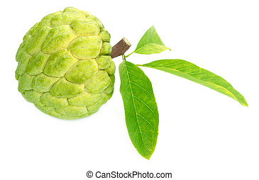 Custard apple over white background