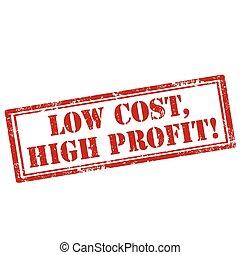 custo, baixo, profit-stamp, alto