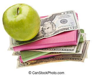 custo, cuidado, saúde, ou, educação