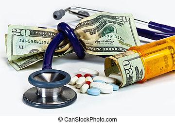 custo, thighting, cuidado, saúde